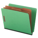 UNIVERSAL PRODUCTS UNV10317 Pressboard End Tab Folders, Letter, Six-Section, Green, 10/box