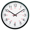 UNIVERSAL PRODUCTS UNV10441 24-Hour Round Wall Clock, 12 5/8