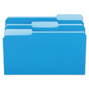 UNIVERSAL PRODUCTS UNV10521 File Folders, 1/3 Cut One-Ply Top Tab, Legal, Blue/light Blue, 100/box