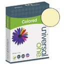 Universal UNV11201 Colored Paper, 20lb, 8-1/2 X 11, Canary, 500 Sheets/ream