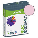 UNIVERSAL PRODUCTS UNV11204 Colored Paper, 20lb, 8-1/2 X 11, Pink, 500 Sheets/ream