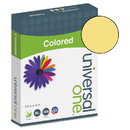 Universal UNV11205 Colored Paper, 20lb, 8-1/2 X 11, Goldenrod, 500 Sheets/ream