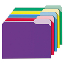 Universal UNV12306 Recycled Interior File Folders, 1/3 Cut Top Tab, Letter, Assorted, 100/box