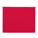 UNIVERSAL PRODUCTS UNV14118 Hanging File Folders, 1/5 Tab, 11 Point Stock, Letter, Red, 25/box
