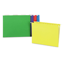 UNIVERSAL PRODUCTS UNV14121 Hanging File Folders, 1/5 Tab, 11 Point, Letter, Assorted Colors, 25/box