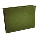 UNIVERSAL PRODUCTS UNV14141 One Inch Box Bottom Hanging Folder, Pressboard, Letter, Standard Green, 25/box