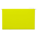 UNIVERSAL PRODUCTS UNV14219 Hanging File Folders, 1/5 Tab, 11 Point Stock, Legal, Yellow, 25/box