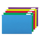 UNIVERSAL PRODUCTS UNV14221 Hanging File Folders, 1/5 Tab, 11 Point, Legal, Assorted Colors, 25/box