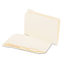 UNIVERSAL PRODUCTS UNV15115 File Folders, 1/5 Cut Assorted, One-Ply Top Tab, Legal, Manila, 100/box
