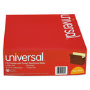 UNIVERSAL PRODUCTS UNV15262 5 1/4 Inch Expansion File Pockets, Straight Tab, Letter, Redrope/manila, 10/box