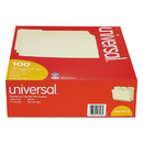UNIVERSAL PRODUCTS UNV16113 File Folders, 1/3 Cut Assorted, Two-Ply Top Tab, Letter, Manila, 100/box