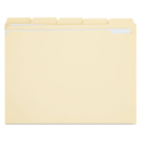 UNIVERSAL PRODUCTS UNV16115 File Folders, 1/5 Cut Assorted, Two-Ply Top Tab, Letter, Manila, 100/box