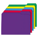 Universal UNV16166 File Folders, 1/3 Cut Double-Ply Top Tab, Letter, Assorted Colors, 100/box