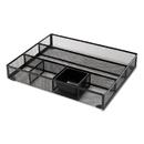 Universal UNV20021 Metal Mesh Drawer Organizer, 15 x 11 7/8 x 2 1/2, Black