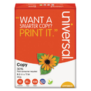 UNIVERSAL PRODUCTS UNV20030 30% Recycled Copy Paper, 92 Brightness, 20lb, 8 1/2 X 11, White, 5000/carton
