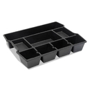Universal UNV20120 High Capacity Drawer Organizer, 14 7/8 x 11 7/8 x 2 1/2, Plastic, Black