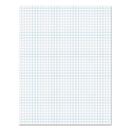 Universal UNV20631 Glue Top Pad, Quad Rule, 8 1/2 x 11, White, 50 Sheets, Dozen