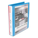UNIVERSAL OFFICE PRODUCTS UNV20723 Deluxe Round Ring View Binder, 1-1/2