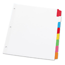 UNIVERSAL PRODUCTS UNV20819 Write-On/erasable Indexes, Eight Multicolor Tabs, Letter, White