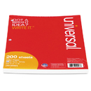 UNIVERSAL PRODUCTS UNV20923 Mediumweight 16-Lb. Filler Paper, 8 1/2 X 11, Wide Rule, White, 200 Sheets/pk