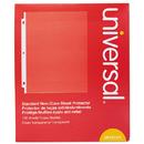 Universal UNV21121 Standard Sheet Protector, Standard, 8 1/2 x 11, Clear, 100/Box