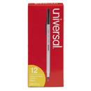 UNIVERSAL OFFICE PRODUCTS UNV27410 Economy Ballpoint Stick Oil-Based Pen, Black Ink, Medium, Dozen