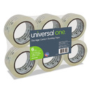 UNIVERSAL PRODUCTS UNV33100 Heavy-Duty Acrylic Box Sealing Tape, 48mm X 50m, 3