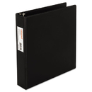 Universal UNV33411 Economy Non-View Round Ring Binder With Label Holder, 1-1/2