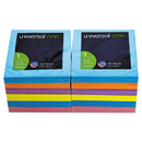 UNIVERSAL PRODUCTS UNV35611 Fan-Folded Pop-Up Notes, 3 X 3, Assorted Bright Colors, 100-Sheet, 12/pack