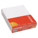UNIVERSAL PRODUCTS UNV35615 Scratch Pads, Unruled, 5 X 8, White, 12 100-Sheet Pads/pack