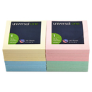 UNIVERSAL PRODUCTS UNV35619 Fan-Folded Pop-Up Notes, 3 X 3, 4 Assorted Pastel Colors, 100-Sheet, 12/pack