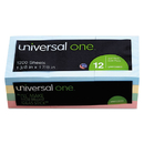 UNIVERSAL PRODUCTS UNV35663 Self-Stick Notes, 1-1/2 X 2, Assorted Pastel Colors, 100-Sheet, 12/pack