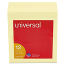 UNIVERSAL PRODUCTS UNV35672 Standard Self-Stick Notes, 3 X 5, Yellow, 100-Sheet, 12/pack
