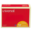 UNIVERSAL PRODUCTS UNV35673 Standard Self-Stick Notes, Lined, 4 X 6, Yellow, 100-Sheet, 12/pack