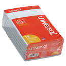 UNIVERSAL PRODUCTS UNV35850 Colored Perforated Note Pads, Narrow Rule, 5 X 8, Blue, 50-Sheet, Dozen