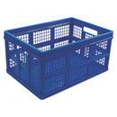 UNIVERSAL PRODUCTS UNV40013 Filing/storage Tote Storage Box, Plastic, 20-1/8 X 14-5/8 X 10-3/4, Blue