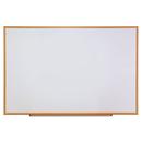 Universal UNV43621 Dry-Erase Board, Melamine, 72 X 48, White, Oak-Finished Frame