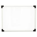 Universal UNV43722 Dry Erase Board, Melamine, 24 X 18, White, Black/gray, Aluminum/plastic Frame