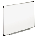 Universal UNV43723 Dry Erase Board, Melamine, 36 X 24, White, Black/gray Aluminum/plastic Frame