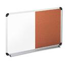 Universal UNV43743 Cork/dry Erase Board, Melamine, 36 X 24, Black/gray, Aluminum/plastic Frame