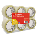 UNIVERSAL PRODUCTS UNV53200 General-Purpose Acrylic Box Sealing Tape, 48mm X 100m, 3