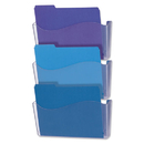 UNIVERSAL PRODUCTS UNV53682 3 Pocket Wall File Starter Set, Letter, Clear