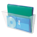UNIVERSAL PRODUCTS UNV53692 Add-On Pocket For Wall File, Letter, Clear
