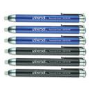 Universal UNV55106 Pen-Style Retractable Eraser, Blue;Black, 6/Pack