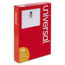 Universal UNV56003 Clip-On Clear Badge Holders W/inserts, Top Load, 2 1/4 X 3 1/2, White, 50/box