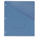 UNIVERSAL PRODUCTS UNV61681 Slash-Cut Pockets For Three-Ring Binders, Jacket, Letter, 11 Pt., Blue, 10/pack