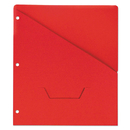 UNIVERSAL PRODUCTS UNV61683 Slash-Cut Pockets For Three-Ring Binders, Jacket, Letter, 11 Pt., Red, 10/pack