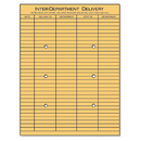 UNIVERSAL PRODUCTS UNV63568 Light Brown Kraft String & Button Interoffice Envelope, 10 X 13, 100/box