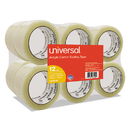 UNIVERSAL OFFICE PRODUCTS UNV66100 General-Purpose Acrylic Box Sealing Tape, 48mm X 100m, 3