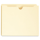 Universal UNV73500 Manila File Jackets With Reinforced Tabs, One Inch Expansion, Letter